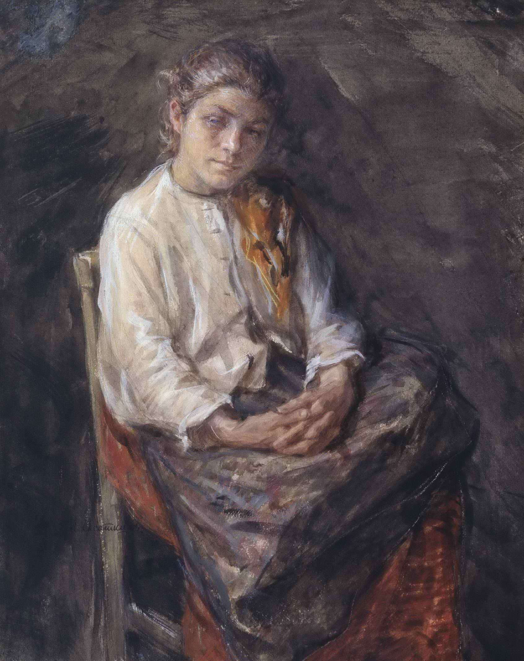 Касаткин Н.А. - Портрет девочки-шахтерки