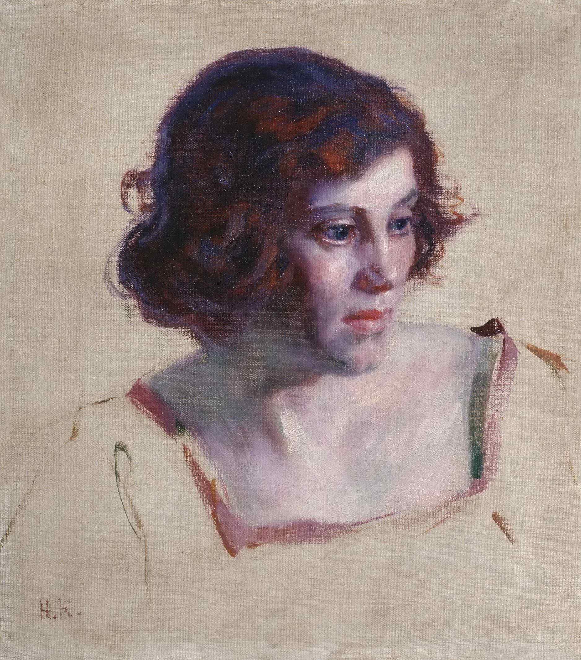 Касаткин Н.А. - Портрет девушки