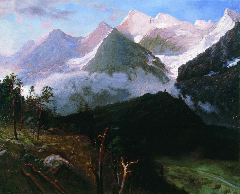Киселев А.А. - Горный пейзаж. (Кавказские вершины)