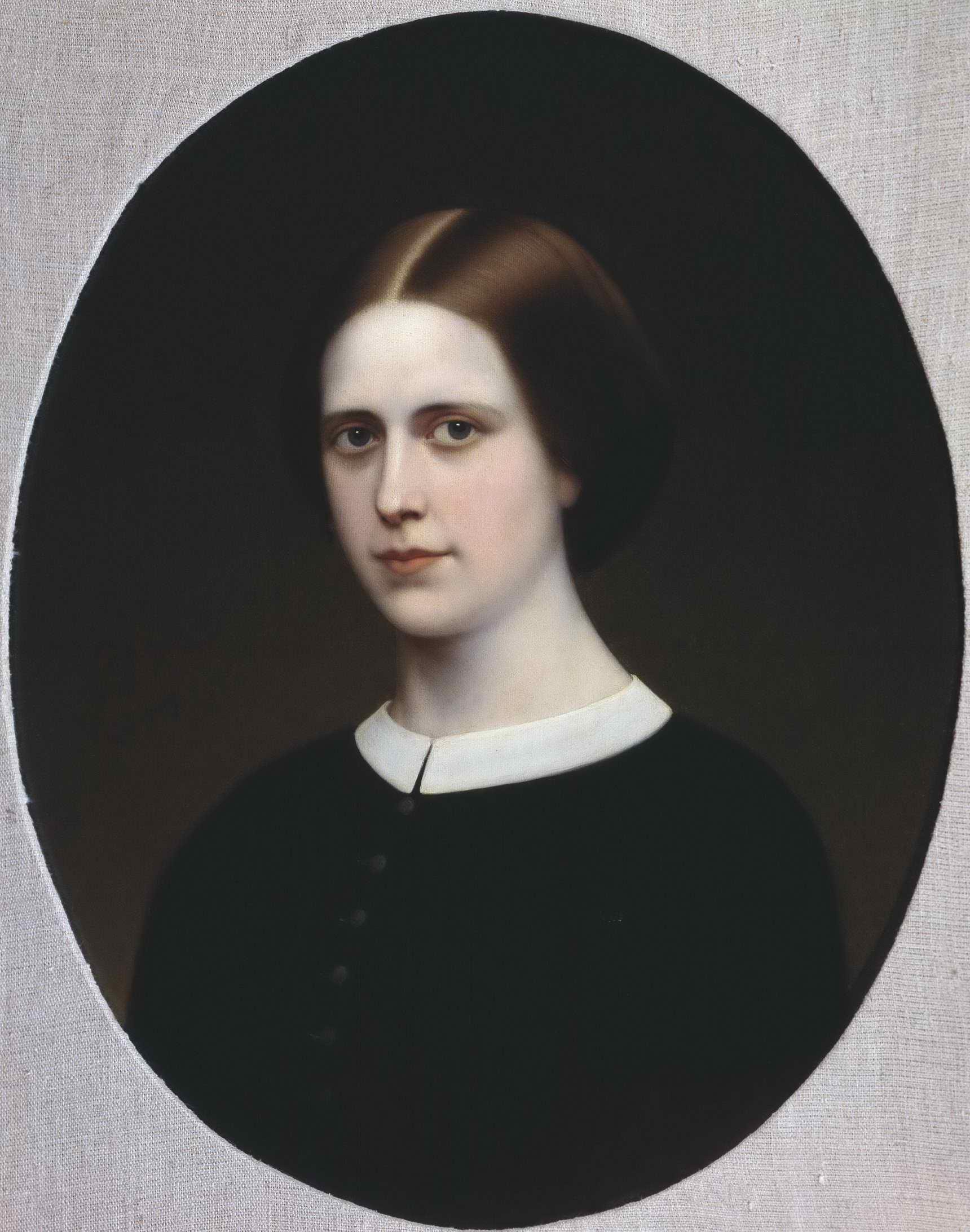 Неизвестный художник (Макаров И.К. ?) - Портрет женский