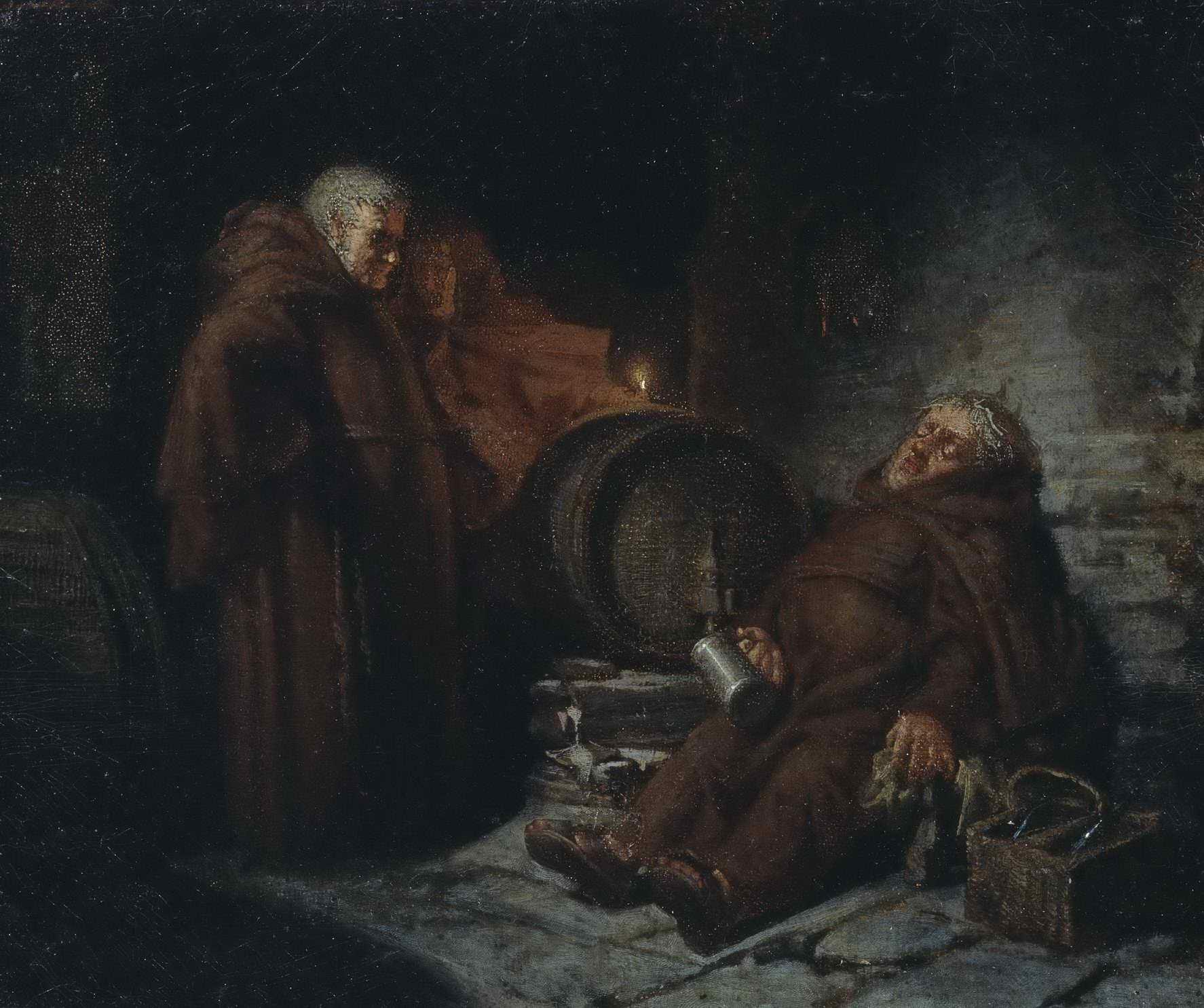 Смирнов В.И. (?)  - Монахи в погребе