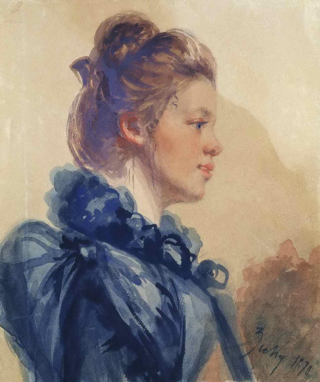 Зичи М.А. - Портрет молодой женщины