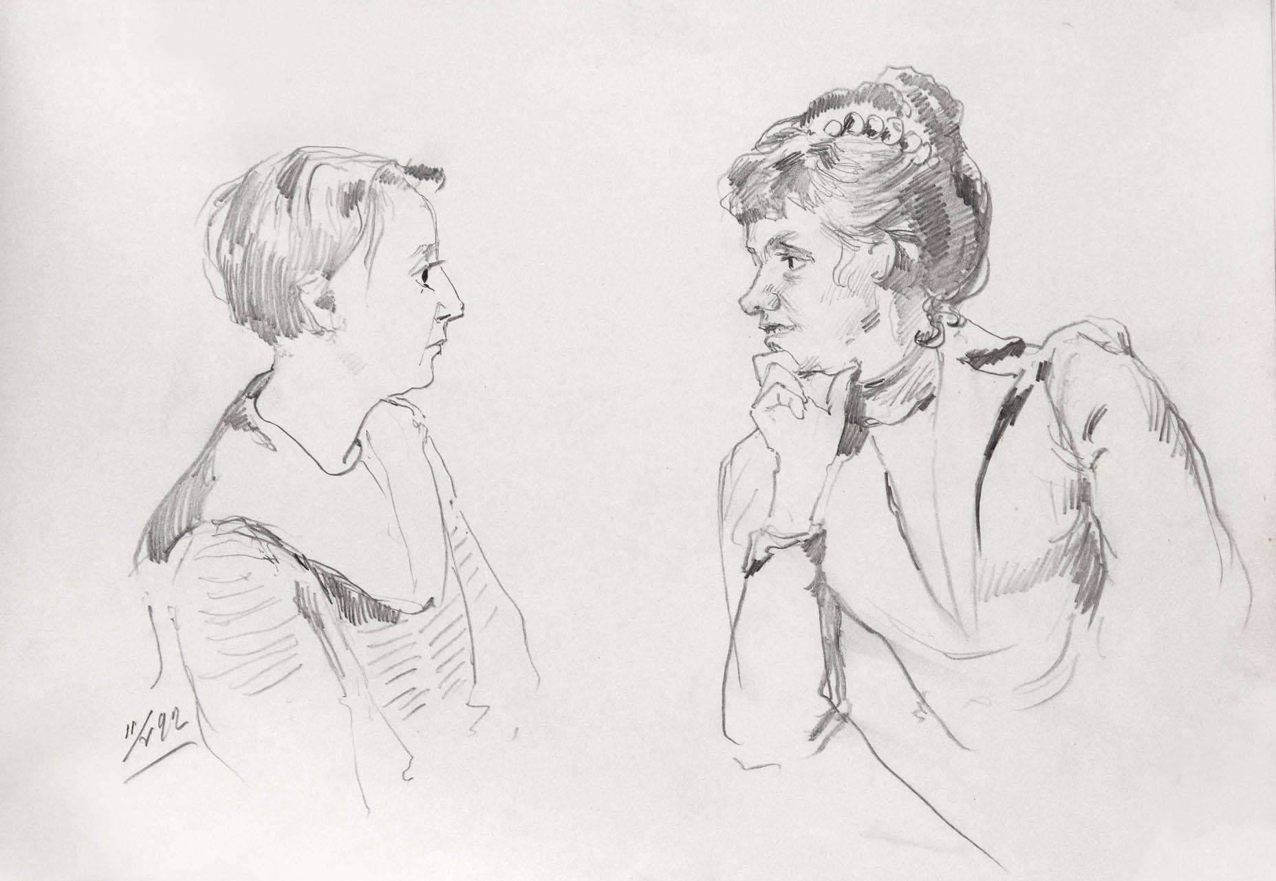 Таня Сердечная и М.Ф. Позен