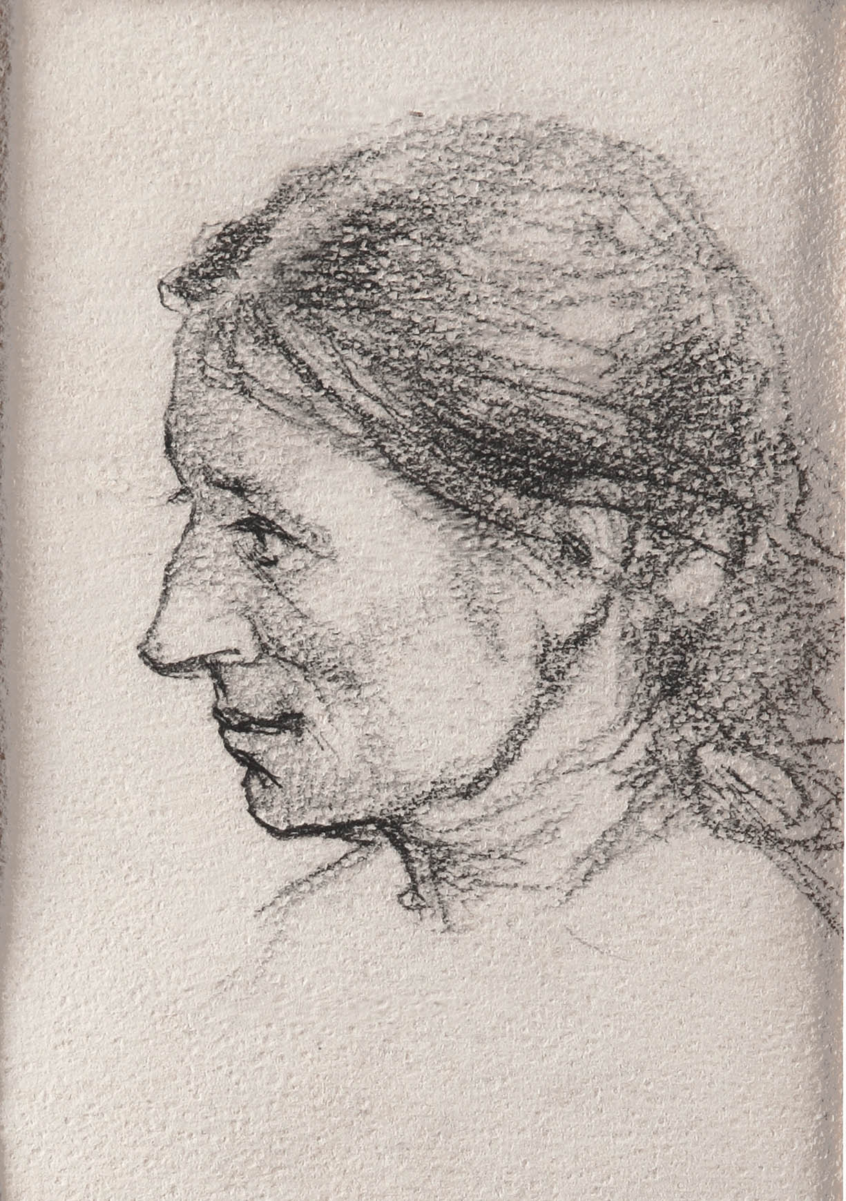 """Голова женщины. Рисунок к картине """"Мечтатель"""""""