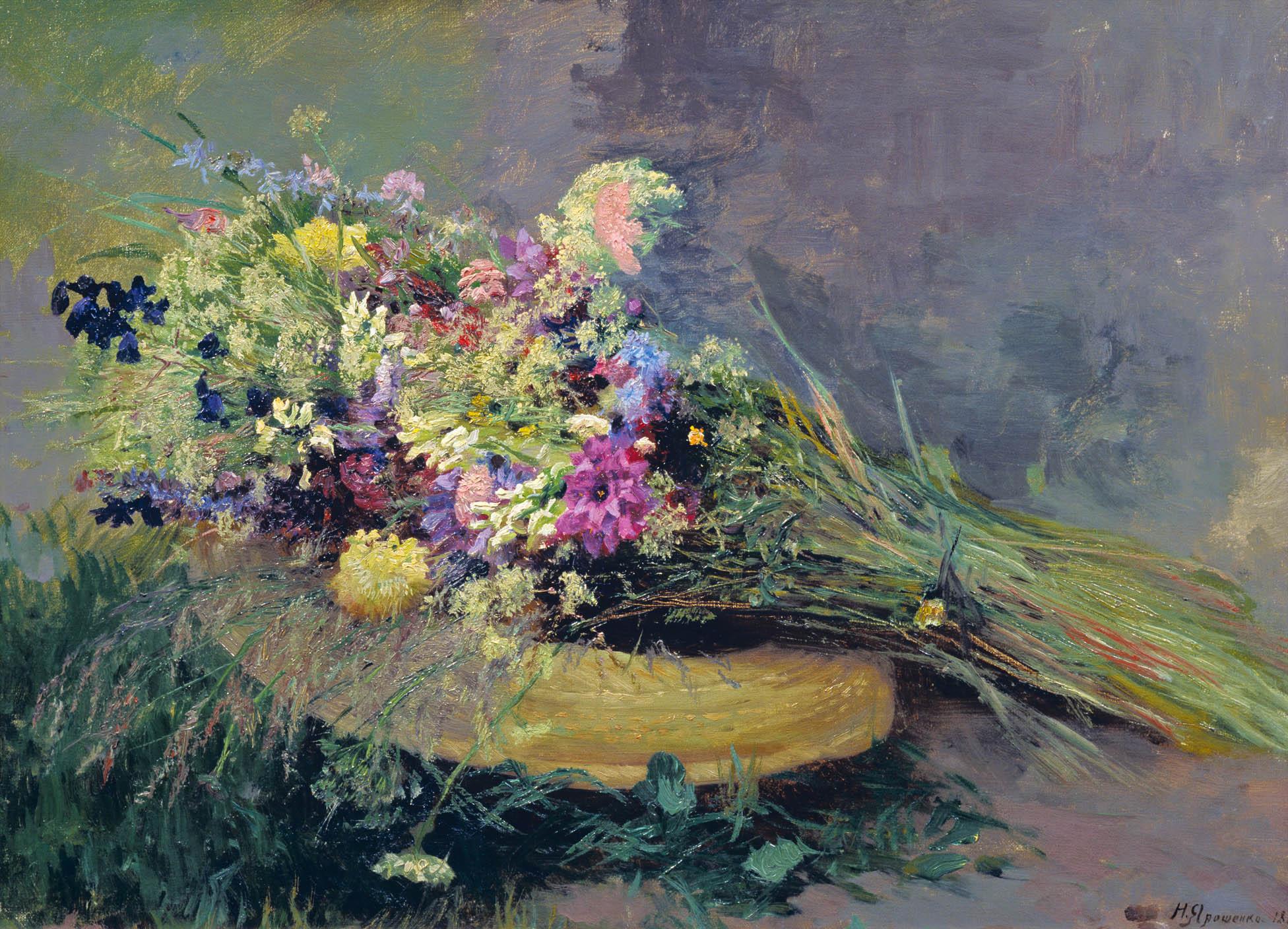 Полевые цветы. 1889. Этюд. Холст. масло. 47х65