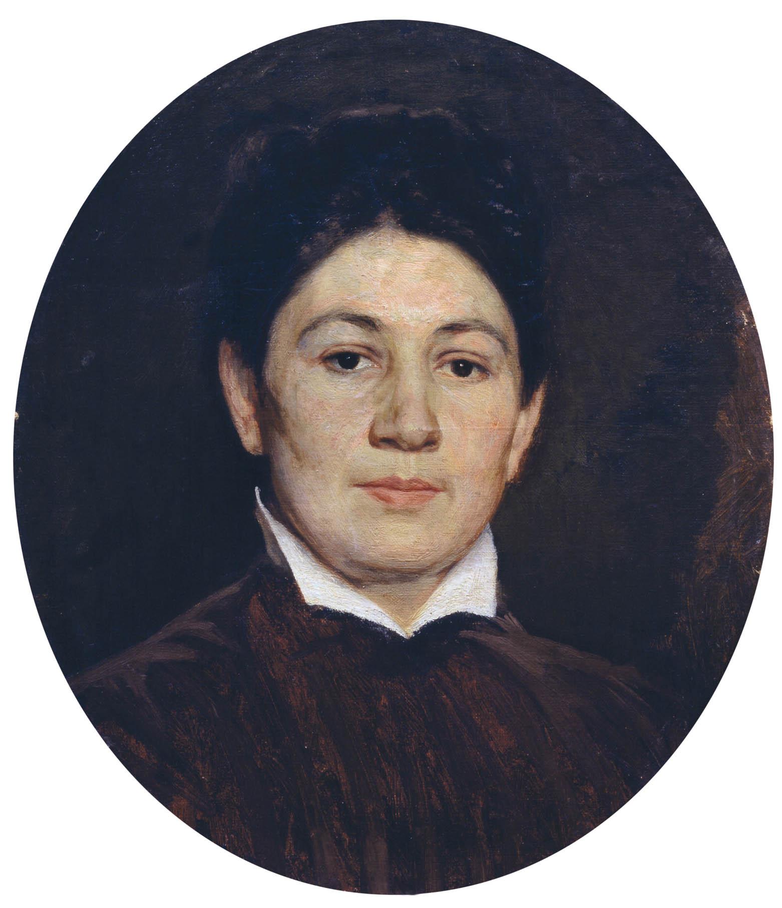 Портрет М.П.Ярошенко. Нач.1880-х. Холст, масло 44х36