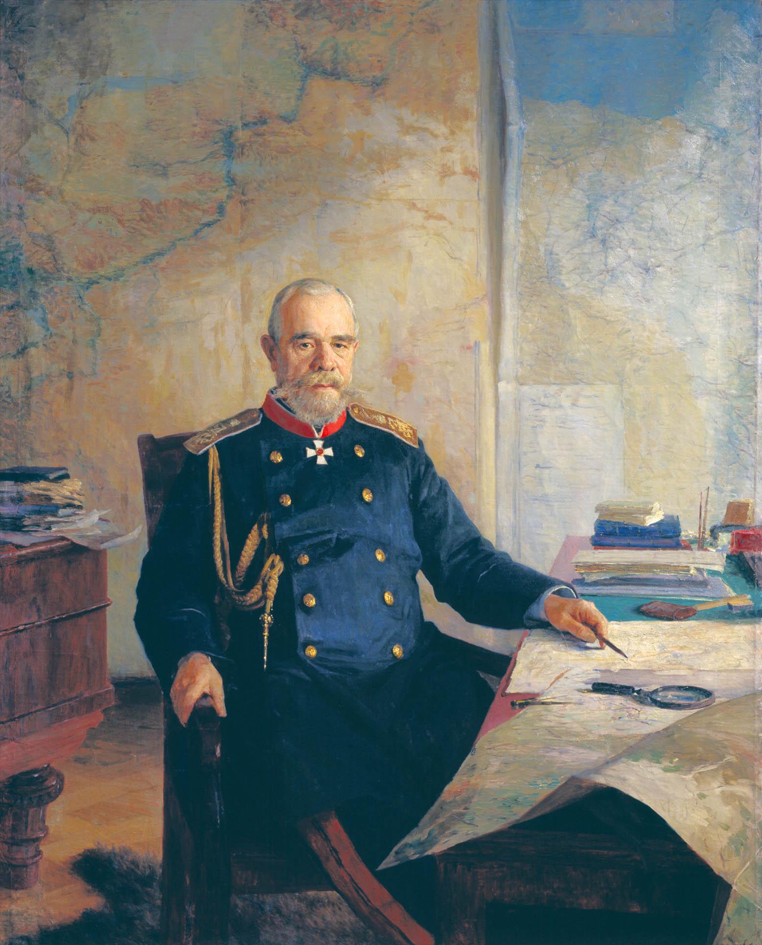 Портрет Н.Н. Обручева. 1898. Холст.масло. 177х143