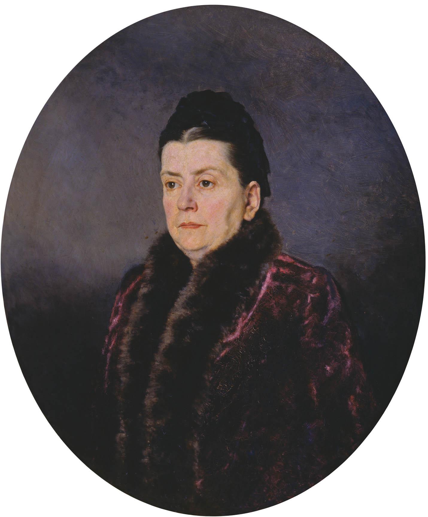 Женский портрет. Кон. 1870-х- нач.80-х. Холст.,масло. 73х62