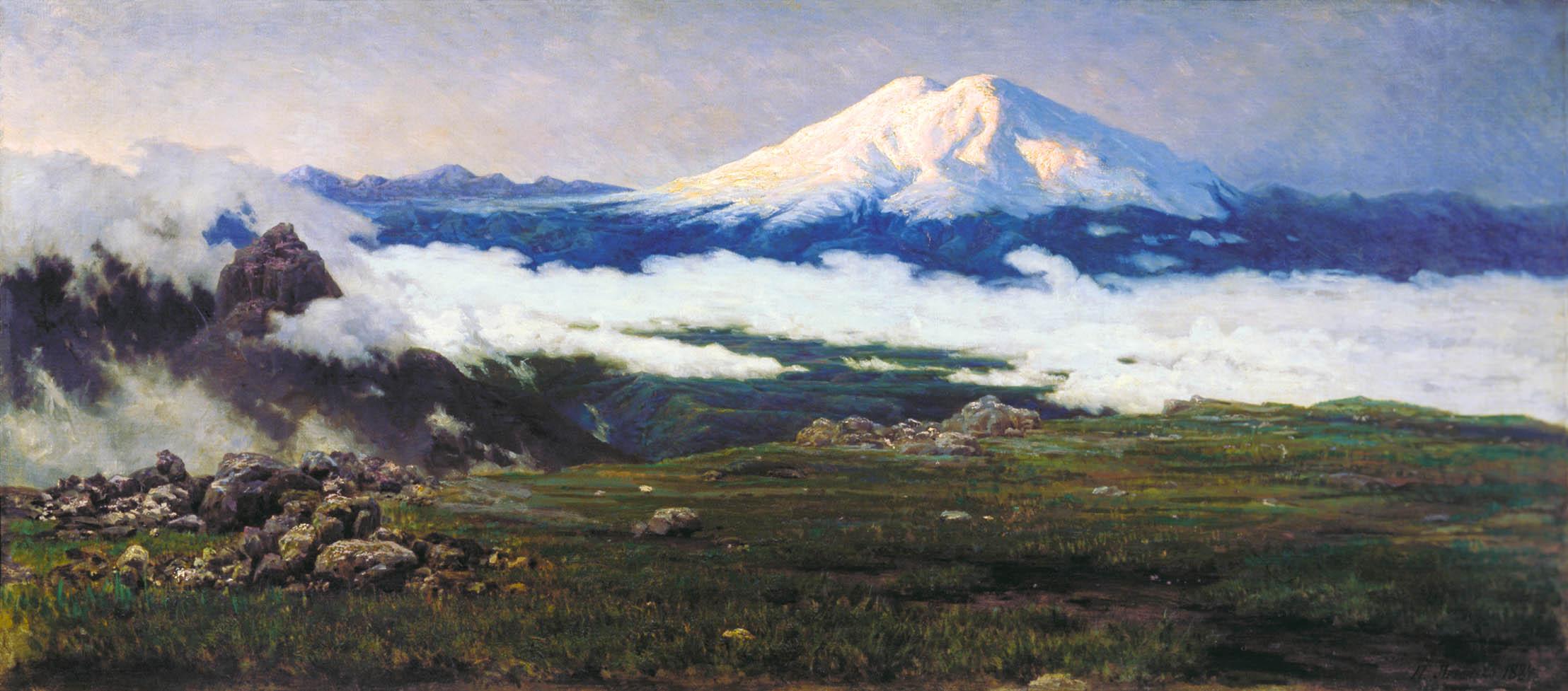 Шат- гора. 1884. Холст,масло 70х159