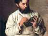 Портрет скульптора Л.В. Позена. 1885. Дерево. масло. 23х18