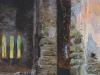 Забытый храм.Этюд 1887. Картон,масло. 38,5х19,5