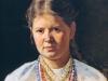 Женский портрет(Украинка). 1870-80-е.Не окончено.Холст,масло.45х36