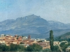 Пейзаж. (Селение в горах).  кон1880-х Этюд. Холст,масло 19,5х36
