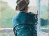 На балконе.1891(?). Этюд. Картон, масло .22 х16
