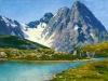 Кавказ.Тебердинское озеро. 1894. Этюд. Дерево, масло. 21.5х 41,5