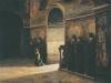В монастыре. Кон.1870-х,нач.80-х. Не окончена. Холст,масло. 62,2х80