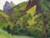 Березовая балка. Кисловодск. 1892(1890-е).Этюд. Картон, масло. 19,5х38,7