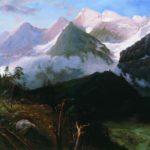 Горный пейзаж. (Кавказские вершины)