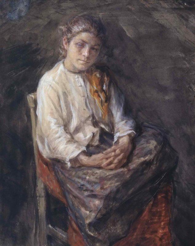Портрет девочки-шахтерки
