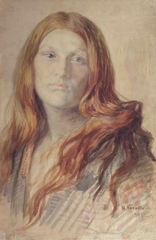 Женский портрет (Рыжая)