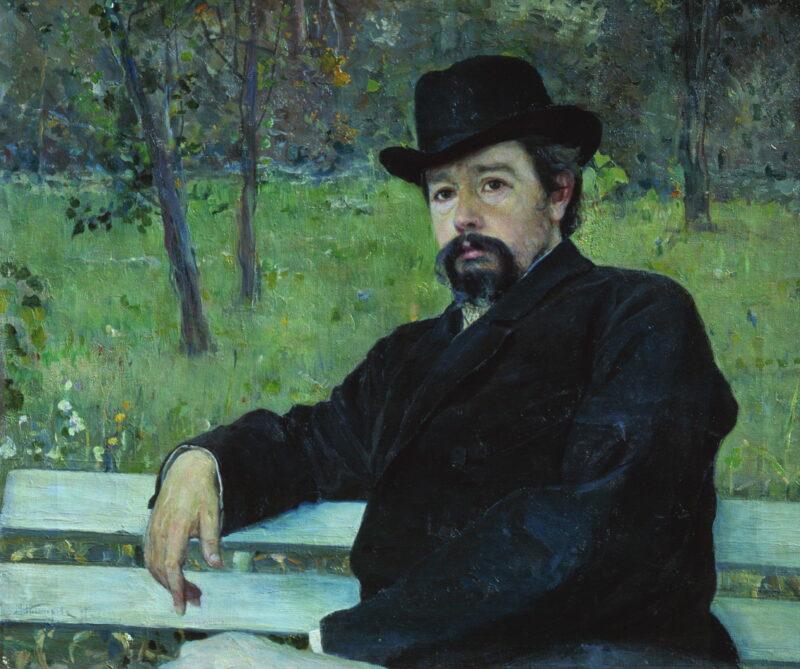М.В. Нестеров Н.А. Ярошенко в саду