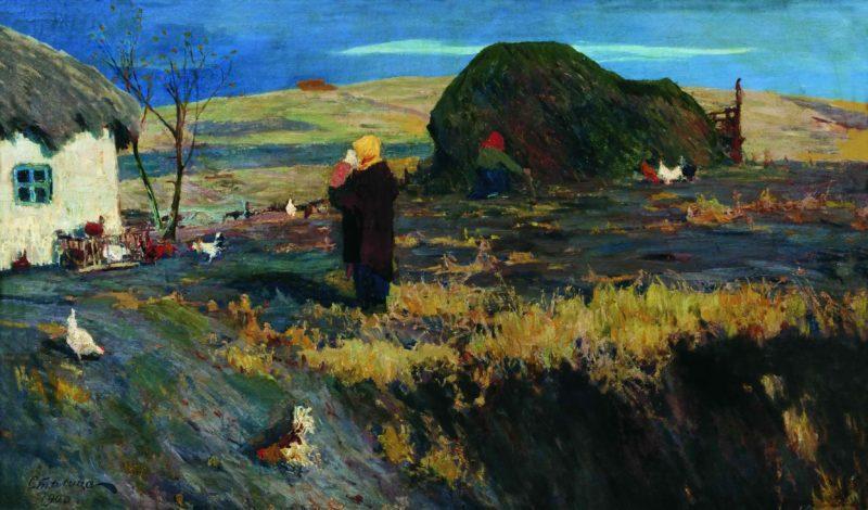 Пейзаж с хатой