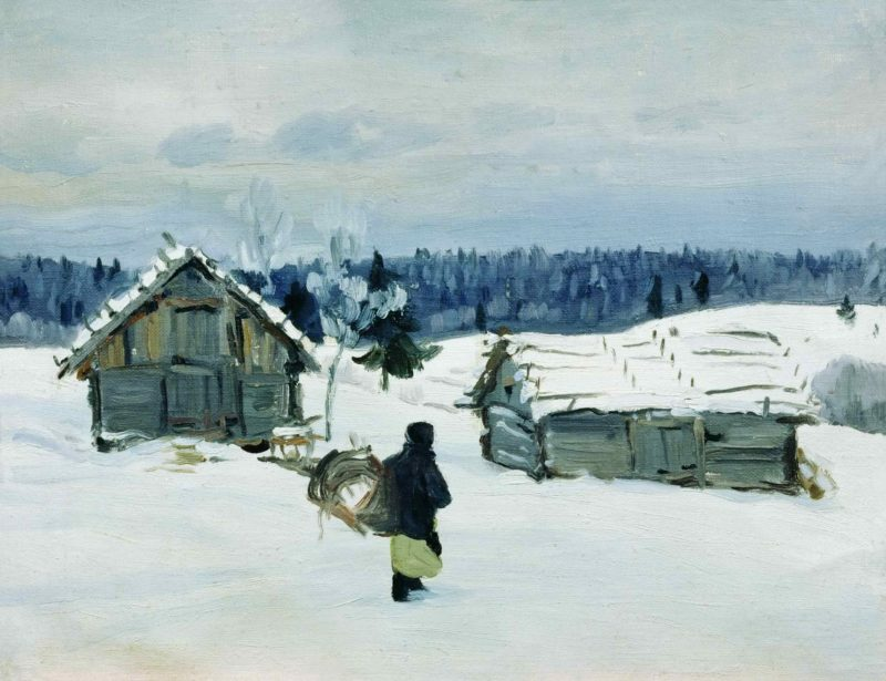 Зимой в деревне